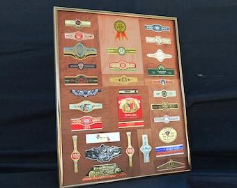 """Decorative Framed Cigar Bands and Labels: """"Laredo"""" #608.165"""