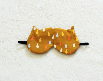 Raindrops Printed Cotton Cat Eye Mask