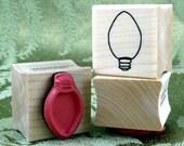 Single Christmas Light rubber stamp from oldislandstamps
