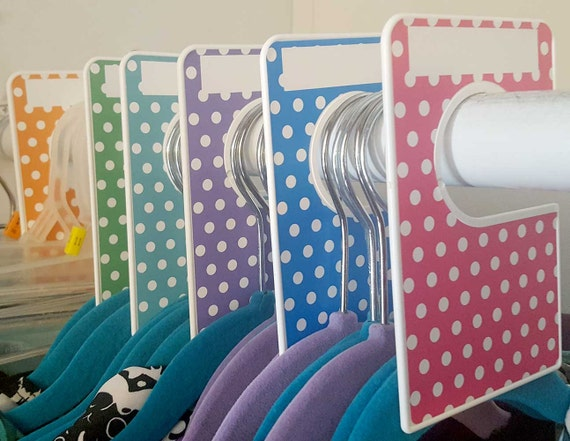 6 closet dividers any size adult or baby by digitaldoodlebug for Baby clothes size organizer