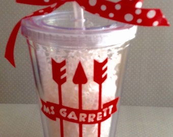 Personalized Tumbler with Arrows