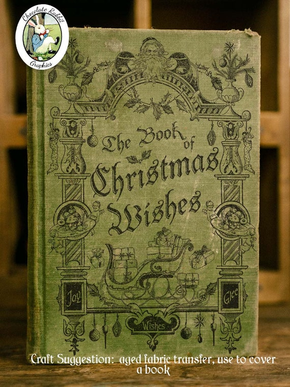 Book Cover Art Etsy ~ Christmas wishes book cover digital download printable