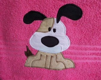 Pink Dog Towel
