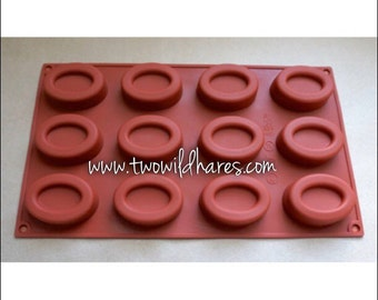 OVAL HOTEL Size Soap Mold, Sample Soaps, Lotion Bars, Jelly Soap Mold, Heat Safe Silicone, 1 oz cavities