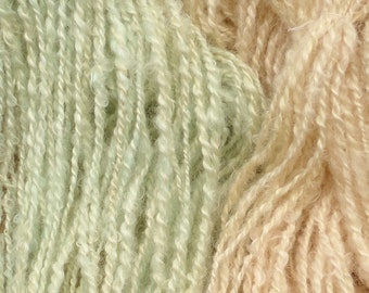 Hand Spun Mohair Yarn 8-10 wpi 74 yards Quiet Pastel