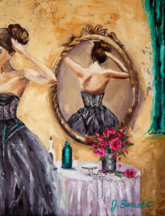 Vintage Paintings Of Women Fine Art Giclee...