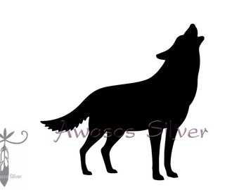Howling Wolf Decal. Wolf decal