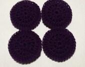 4 Nylon Dish Scrubbies Dark Purple