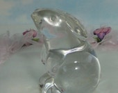 BACCARAT Crystal Rabbit Figurine/Paperweight. Signed