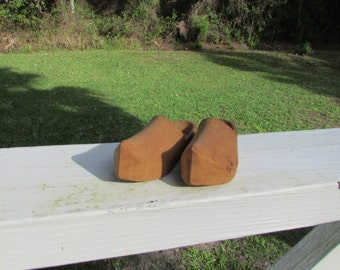 ANTIQUE Wooden Shoes Made in FRANCE Doll Shoes Miniature