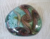 Vintage Collectible Glass Paperweight Isle of Wight Glass Made in England