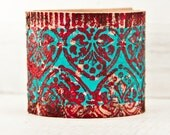 Leather Cuffs Bracelets, Gift Idea, Jewelry For Women, Handpainted Etsy Finds, Handmade Summer Trends