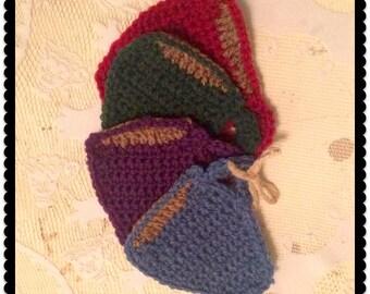 Handmade Crocheted coasters set of 4