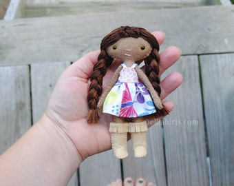 Miniature Handmade Felt Doll * Ready To Ship* Dollhouse Doll 5 Inches Tall Mini