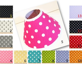 Polka Dot Print Lamp Shade in choice of polka dot fabric by Premier Prints - Different sizes to choose from