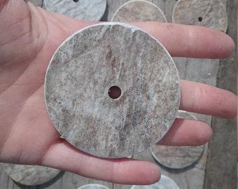Moose Antler Disk- 65mm Focal Bead for Pendants Etc - 1 Piece - Stock No. MA65D