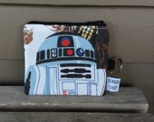 Star Wars R2D2 Mini Wallet with ID Holder Upcycled