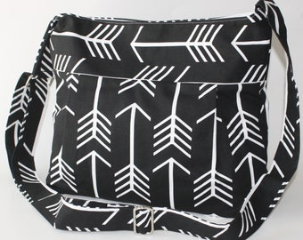 Black Arrows Diaper Bag and Purse