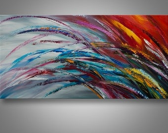Abstract painting, Abstract Wall Art, Home Decor, Palette Knife Painting, Modern Painting, Art, LARGE Painting, Home decor, Catalin Art,