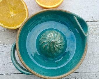 Citrus Juicer, Lemon Juicer, Handmade Pottery, Blue Juicer, Ceramic Juicer, Stoneware Juicer, Orange Juicer, Kitchen appliance, j clay