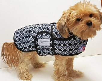 Black and White Sophistication Minky Dog Coat  20 dollars to 50 dollars depending on the size by Doodlebug Duds