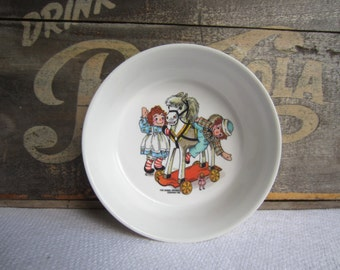 Vintage 1969 Raggedy Ann and Andy Melmac Bowl by Oneida Deluxe