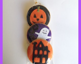 Etsy Pretend Felt food Play food  Halloween Cookies Set(Big size 3pc)