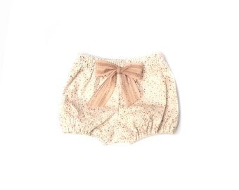 Neutral Splatter Dot Print Cotton Bloomers for Baby Girls