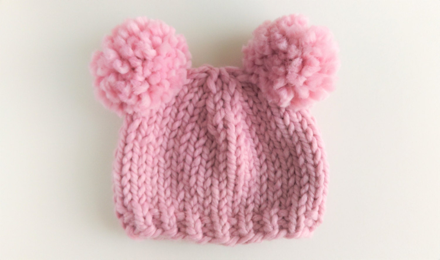 Knit Pom Pom Hat Pattern : Basic Pom & Double Pom Beanie Pattern