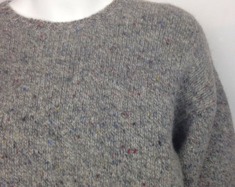 VTG 90s Gap Speckled Wool Multicolored Chunky Thick Sweater
