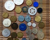 Reserved for Deb:  Lot of Vintage Good Luck Tokens, Medals and Coins, R