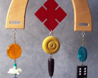 MOBILE...Made from recycled / re-purposed material.