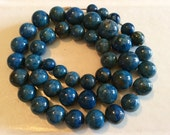 Vintage Heavy Marble ? Beaded Necklace strung on Chain