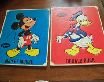 very old mickey mouse and Donald duck puzzles