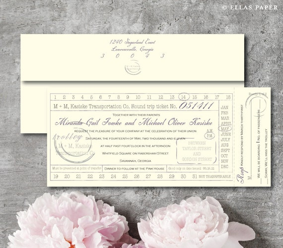Trolley - Wedding Invitation
