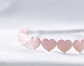 Headband- Pink Heart Ribbon Headband