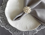 Wedding Napkin Ring Rhinestone Napkin Ring Crystal Napkin Ring Wedding Napkin Holder Wedding Table Decor Diamante Pearl NR005