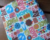 Reusable sandwich bag and/or reusable snack bag - Reuse sandwich bag - Reusable snack bag - Fabric reusable bags set - Peace, love, joy