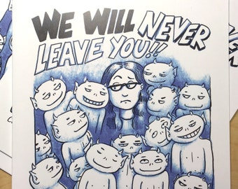 We Will Never Leave You - comic book coloring book