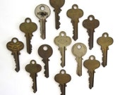 12 vintage keys Key collection Vintage stamping keys Antique keys Stamping keys House keys Old keys for stamping Blank key Blank side A1 #1B