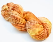 Amber - Hand Dyed Wool Worsted Weight Yarn on Classic Fox Base