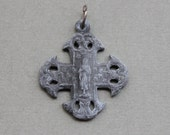 Antique French Notre Dame Budded Cross of Our Lady