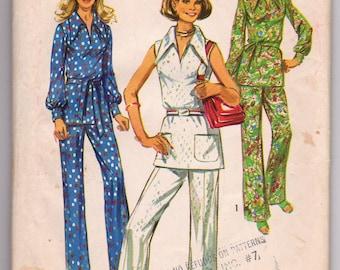 Vintage 1971 Simplicity 9361 Ladies pants, and blouse pattern Size 16