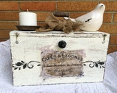 French Antique Farmhouse Wood Box