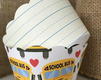 Back to School Cupcake Wrappers SALE