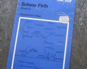 1966 Vintage Ordnance Survey Map of the Solway Firth