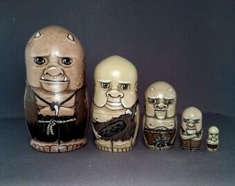 Little Ogres Nesting Dolls set of 5