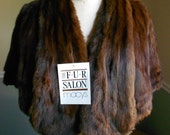 Brown Fur Stole /  / Vintage 1950s Brown  Caplet Reserved for Tye Design Do Not Buy