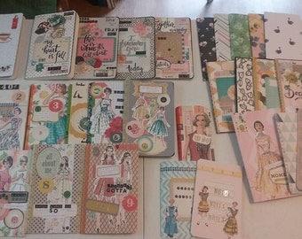 Set of 3  Customized AUTHENTIC Moleskine Cahier 5x 8 1/4 notebooks