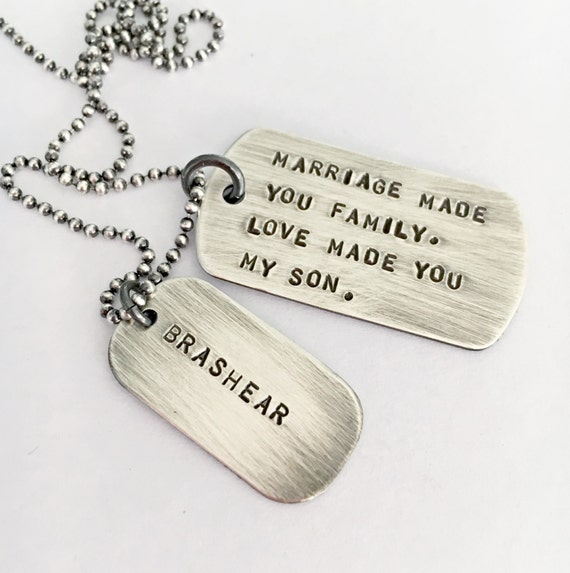 wedding day son in law gift marriage son in law mens dog tag